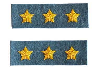 Confederate Infantry Light Blue Colonel's Insignia Set