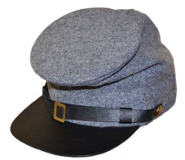 Confederate Plain Grey Forage Cap