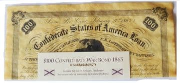 Confederate Replica $100 War Bond