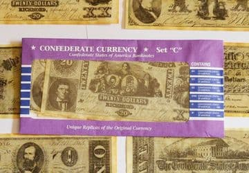 Confederate Replica Currency Set C