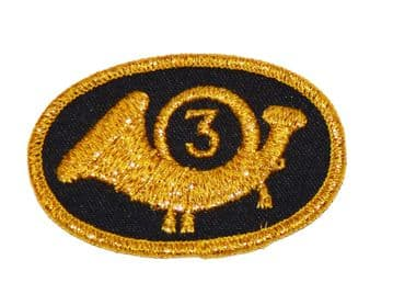 Infantry Officers  Hat Insignia Badge With Number 3