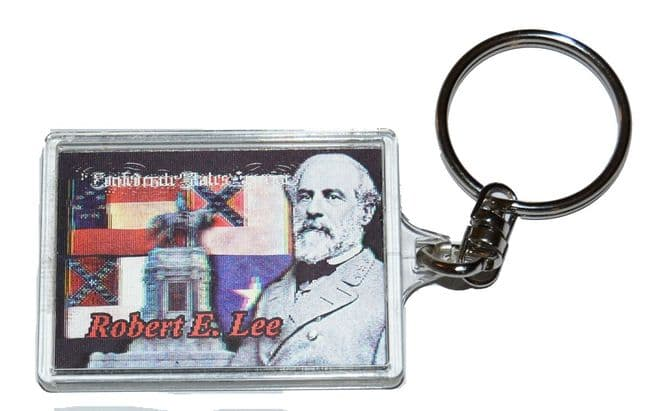 Lee And Confederate Flags Lenticular Moving Images Keyring