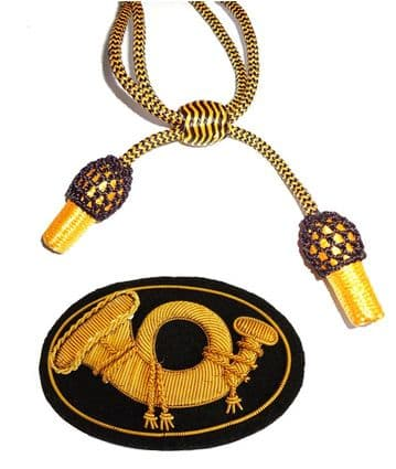Officers Black & Gold Hat Cord And Sewn Infantry Badge