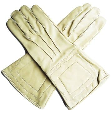 Plain Gauntlets In Tan/ Buff Leather
