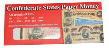 Replica Confederate States Paper Money { Issue Of February 17th 1864 }