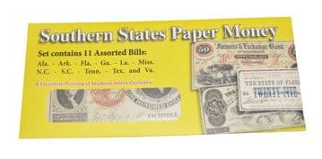 Replica Southern States Paper Money Set