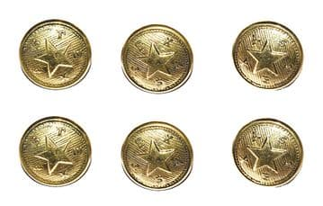 Texas Confederate Large Frock Coat Or Shell Jacket Buttons x 6