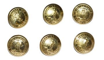 Virginia State Confederate Small Frock Coat Or Shell Jacket Cuff Buttons x 6