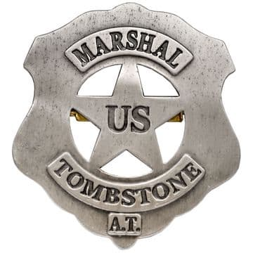 Wyatt Earp Tombstone US Marshal Badge