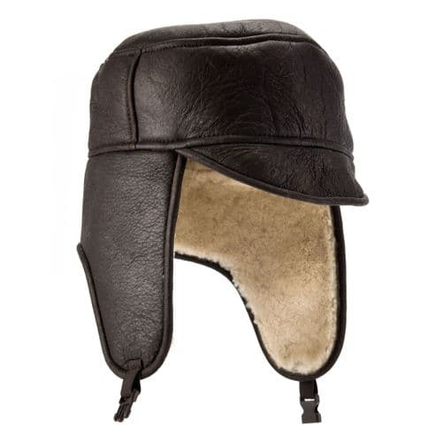 Aviator Sheepskin Trapper Hat - Harrison