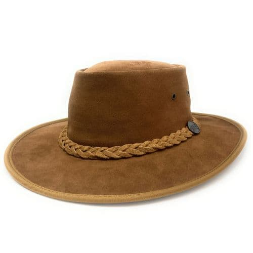 Barmah Squashy Hickory Suede Leather Bush Hat - 1025 - Australian