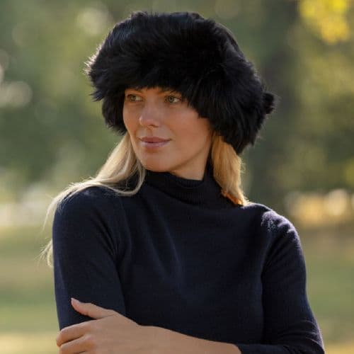 Black Sheepskin Hat - Moreton