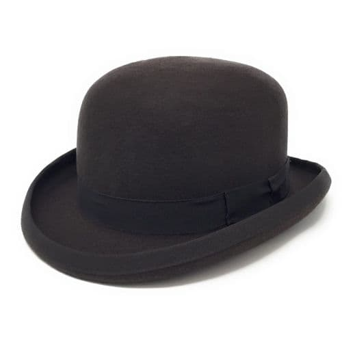 Brown Bowler Hat - Wool Felt