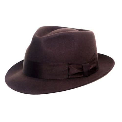 Brown Snap Brim Trilby Hat - Pennsylvania