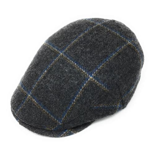 Cheshire Wool  Tweed Flat Cap - Grey
