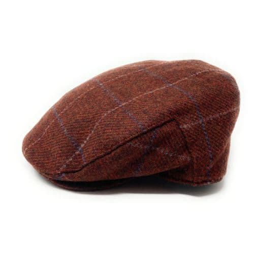 Chestnut Brown Tweed Flat Cap