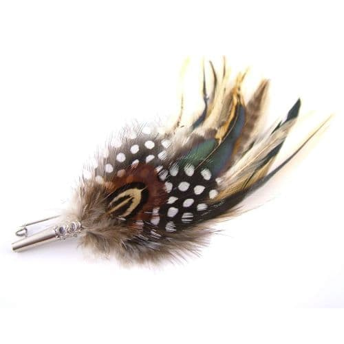 Country Feather Brooch - Guinea
