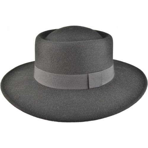Cowboy Hat Wool Felt Cloche Black