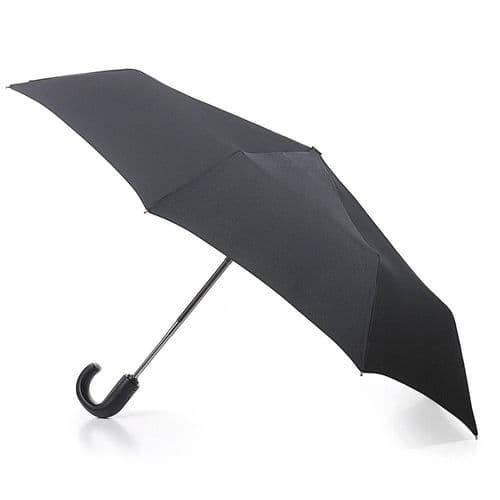 Fulton  Open & Close 11 Folding Umbrella with Black Crook Handle