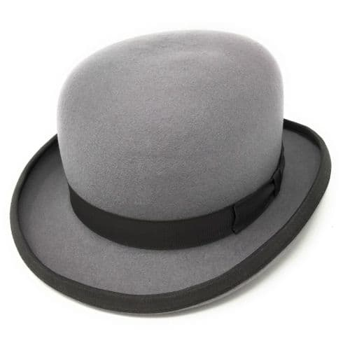 Grey Bowler Hat - Wool Felt