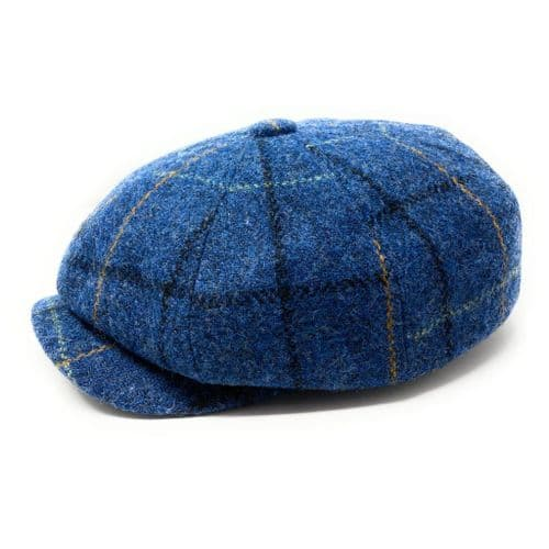 Harris Tweed Wool Bakerboy Cap