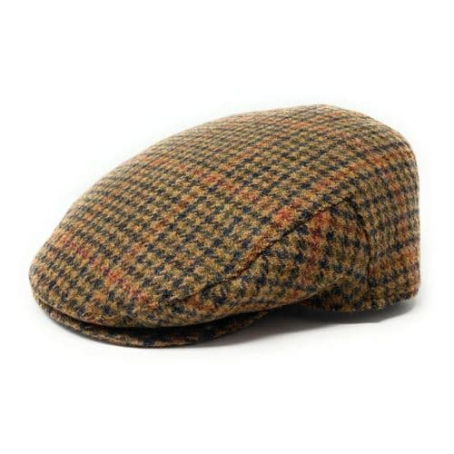 Houndstooth Tweed Flat Cap