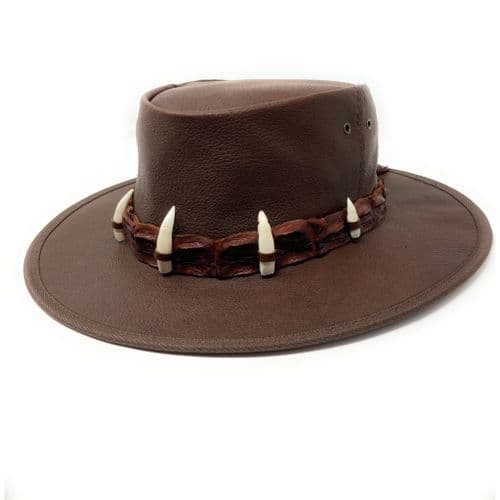 Jacaru Ayers Croc Hat - 150 - Brown
