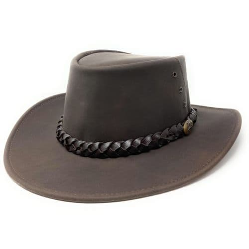 Jacaru Capricorn Hat - 1015 - Brown Leather