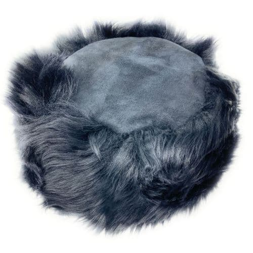 Ladies Sheepskin Cossack Style Snow Queen Hat - Black Kineton