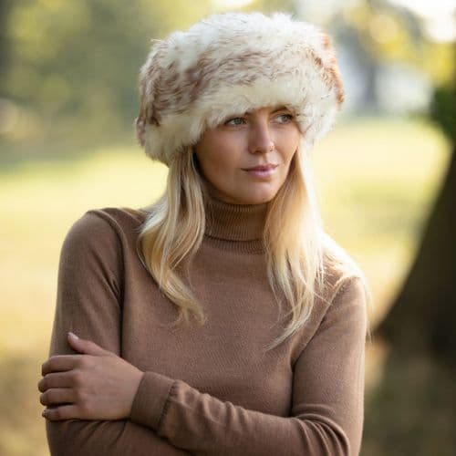 Ladies Sheepskin Cossack Style Snow Queen Hat - Kineton
