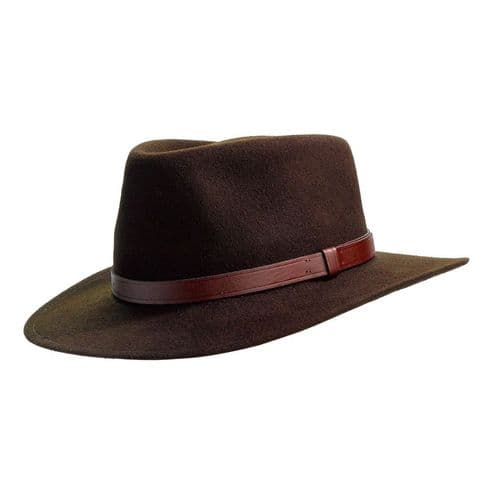 Laird Country Crushable Wool Felt Fedora Hat