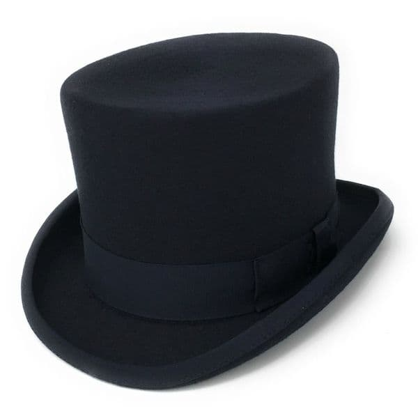 Navy Traditional Top Hat Wool Felt