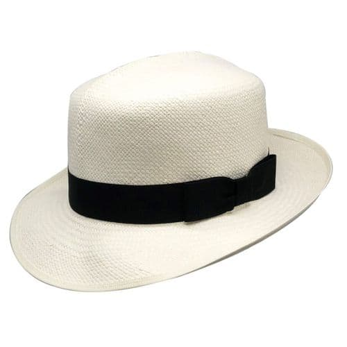 Olney Genuine Folding Brisa Panama Hat with Black Band