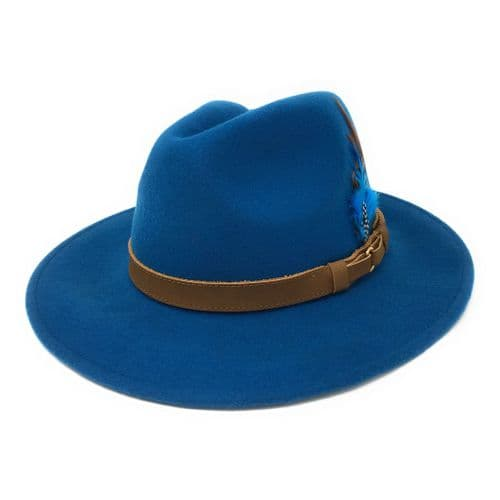 Teal Fedora Hat, Showerproof, Wool - Ranger