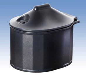 Domestic Grit Salt Bin Black