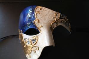 Blue Half Face Mask - Phantom of the Opera Mask | Masks and Tiaras
