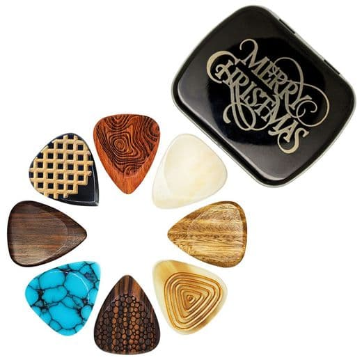 Christmas Tin with 8 Luxury Electric Guitar Picks