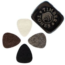 Felt Tones Mixed Tin of 4 Guitar Picks