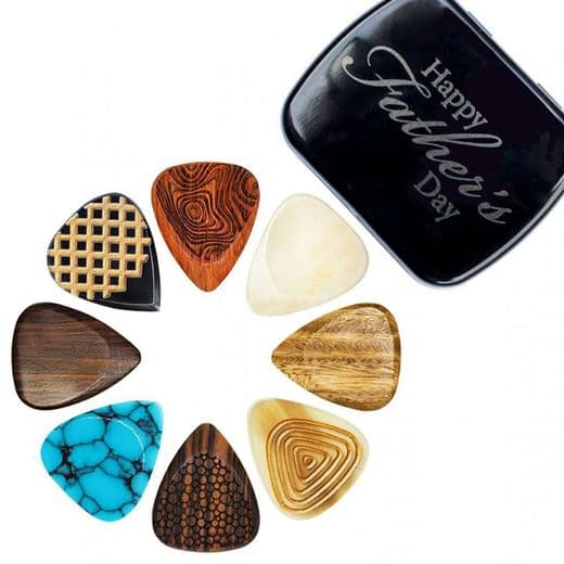 Happy Father's Day Luxury Tin of 8 Electric Guitar Picks