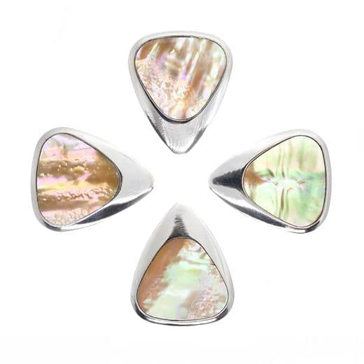 Inlay Tones Greenlip Abalone 4 Guitar Picks