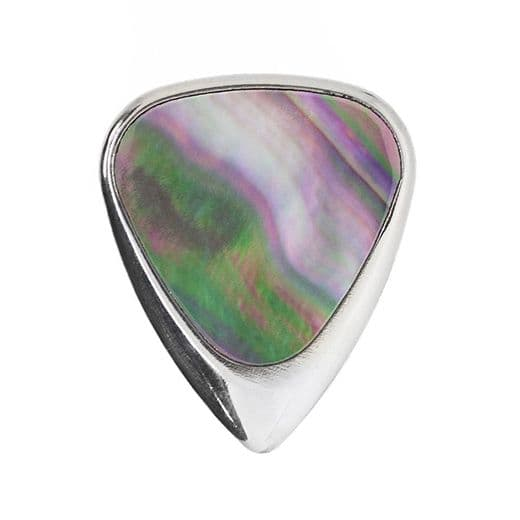 Inlay Tones Mini Black Mother of Pearl 1 Guitar Pick
