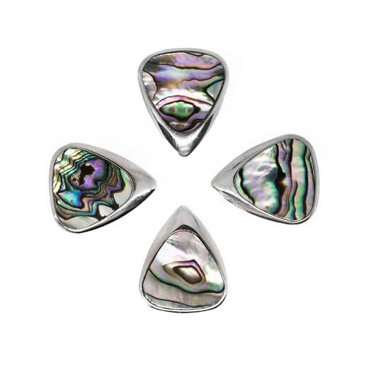 Inlay Tones Mini Green Abalone 4 Guitar Picks