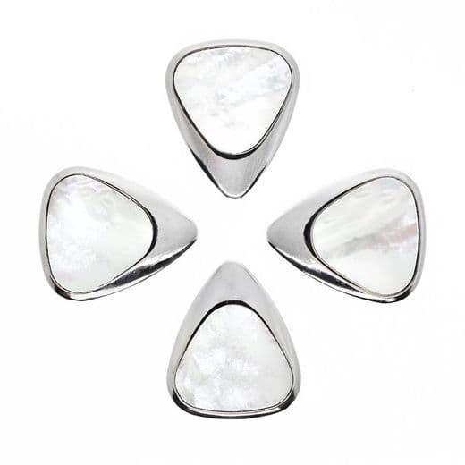 Inlay Tones White Mother of Pearl 4 Guitar Picks