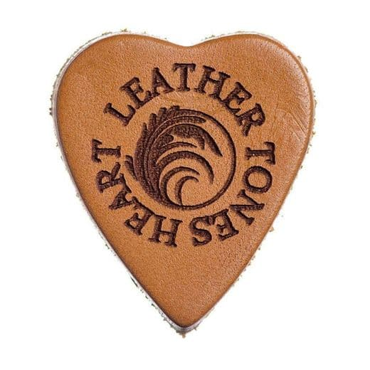 Leather Tones Heart Whiskey Leather 1 Pick