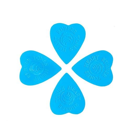 Rubber Tones Heart Blue Silicone 4 Picks