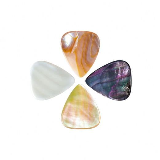 Shell Tones Mixed Pack of 4 Guitar Picks