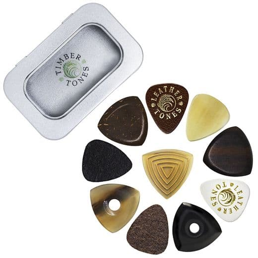 Timber Tones Bass Guitar Tin of 10 Guitar Picks