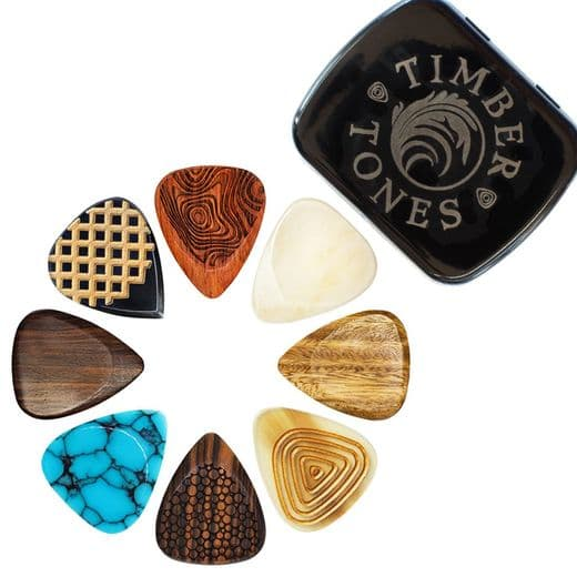Timber Tones Luxury Electric Guitar Tin of 8 Picks
