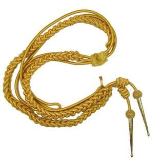 Aiguillette Gold Wire Cord Army