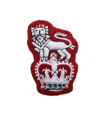 Badge Army Beret Badge white on Red